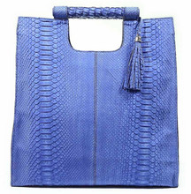 Resort Tote Convertible - Blue Suede Python