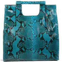 Resort Tote Convertible - Turquoise Glazed Python
