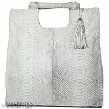 Resort Tote Convertible - Unbleached Suede Python