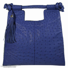 Resort Tote Convertible - Electric Blue Ostrich