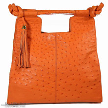 Resort Tote Convertible - Orange Ostrich