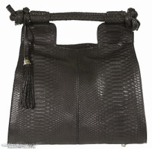 Resort Tote Convertible - Black Matte Python