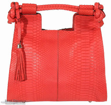 Resort Tote Convertible - Rose Matte Python