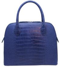Ivette - Alligator Satchel - Blue