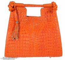 Resort Tote - Orange Matte  Caiman Hornback