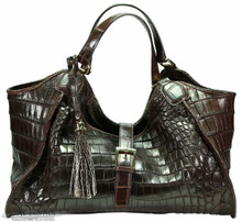 Colette - Chocolate Brown - Nile Crocodile