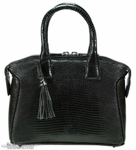 Italo - Lizard - Black Glazed - Small