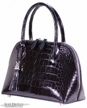 Patrice - American Alligator -Black Glazed (Medium)