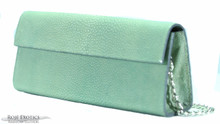 "Sabrina Clutch - Stingray ""Shagreen"" - Mint Green"