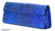 Sabrina Clutch - Stingray - Blue Hologram