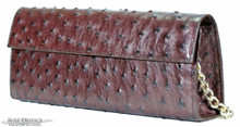 Sabrina Clutch - Ostrich -  Chocolate Glazed