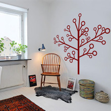 Tree Wall Decals, modern industrial tree, lollipop tree