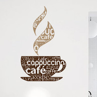 Wall Decal Expressions, cafe latte kitchen wall decal