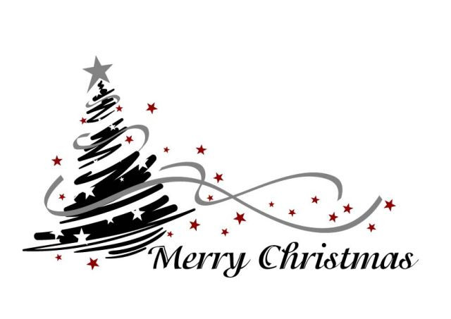Merry Christmas Quote Wall Art Decal: Merry Christmas 1 Wall Decal