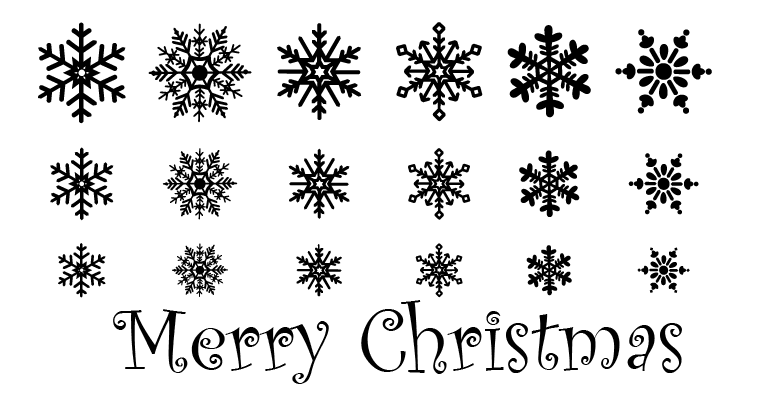 Merry Christmas Quote Wall Art Decal: Snow Flakes Pack & Merry Christmas Wall Decals