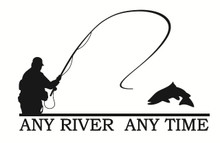 Sports wall decals, fishing wall decals