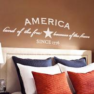 America Wall Decal