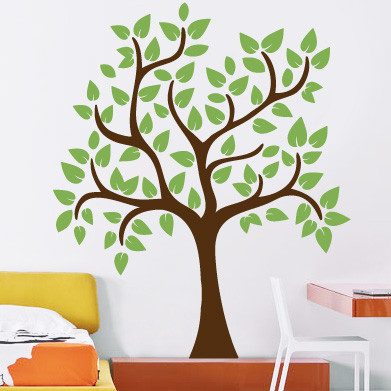 Small Leafy Tree Wall Decal Decalmywall Com