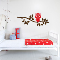 Branch Wall Decals, Owl Wall Decal, Animal Wall Decal