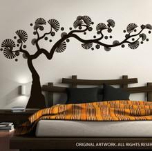 Modern Bonsai Tree Wall Decal & Modern Bonsai Tree Wall Decal | DecalMyWall.com