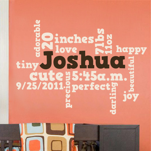 Nursery Wordle Word Cloud Wall Decal Decalmywall Com