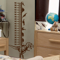 Dinosaur Height Chart Wall Decal, Kids wall decals