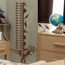 Dinosaur Height Chart Wall Decal, Kids wall decals