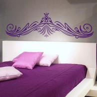 Headboard Wall Decals, decorative ornate wall decals