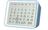 Date Digital Calendar / Clock blue