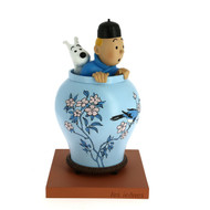 Tintin Icons Blue Lotus Vase
