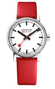 Official Swiss Railways Watch Evo2 [40 mm Ø] red strap