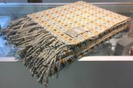 Mantecas Burel Wool Blanket / Vintage light grey-yellow