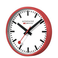 Official Swiss Railways Wall Clock [40 cm Ø] red