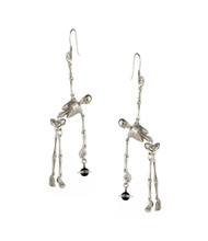 Vivienne Westwood Skeleton Earrings Palladium