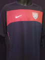 USA Navy and Red Pregame Training Jersey With Back Ventilation