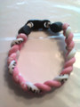 White & Pink O-Nits Titanium Bracelet