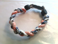 Navy, White & Orange O-Nits Titanium Bracelet