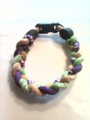 Purple, Lime & Gold O-Nits Titanium Bracelet