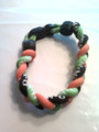 Lime, Black & Orange O-Nits Titanium Bracelet