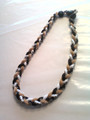 Black, White & Gold O-Nits Titanium Necklace