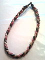 Black, Gold & Red O-Nits Titanium Necklace