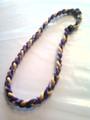 Purple & Yellow O-Nits Titanium Necklace