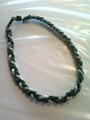 Green & White O-Nits Titanium Necklace