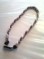 Purple, White & Gold Titanium Necklace