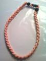 Bright Orange O-Nits Titanium Necklace