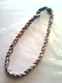 Red, White & Gray O-Nits Titanium Necklace