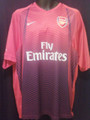 Arsenal Classic Vintage Red To Navy Fade Adult XXL Training and Warm Up Jersey