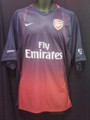 Arsenal Classic Vintage Navy To Red Fade Adult XXL Training and Warm Up Jersey