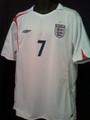 Beckham England Classic 2005 2007 Home Jersey Size XL