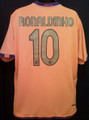 Ronaldinho Barcelona Classic 2006 2007 Away XL Jersey With LFP Patch